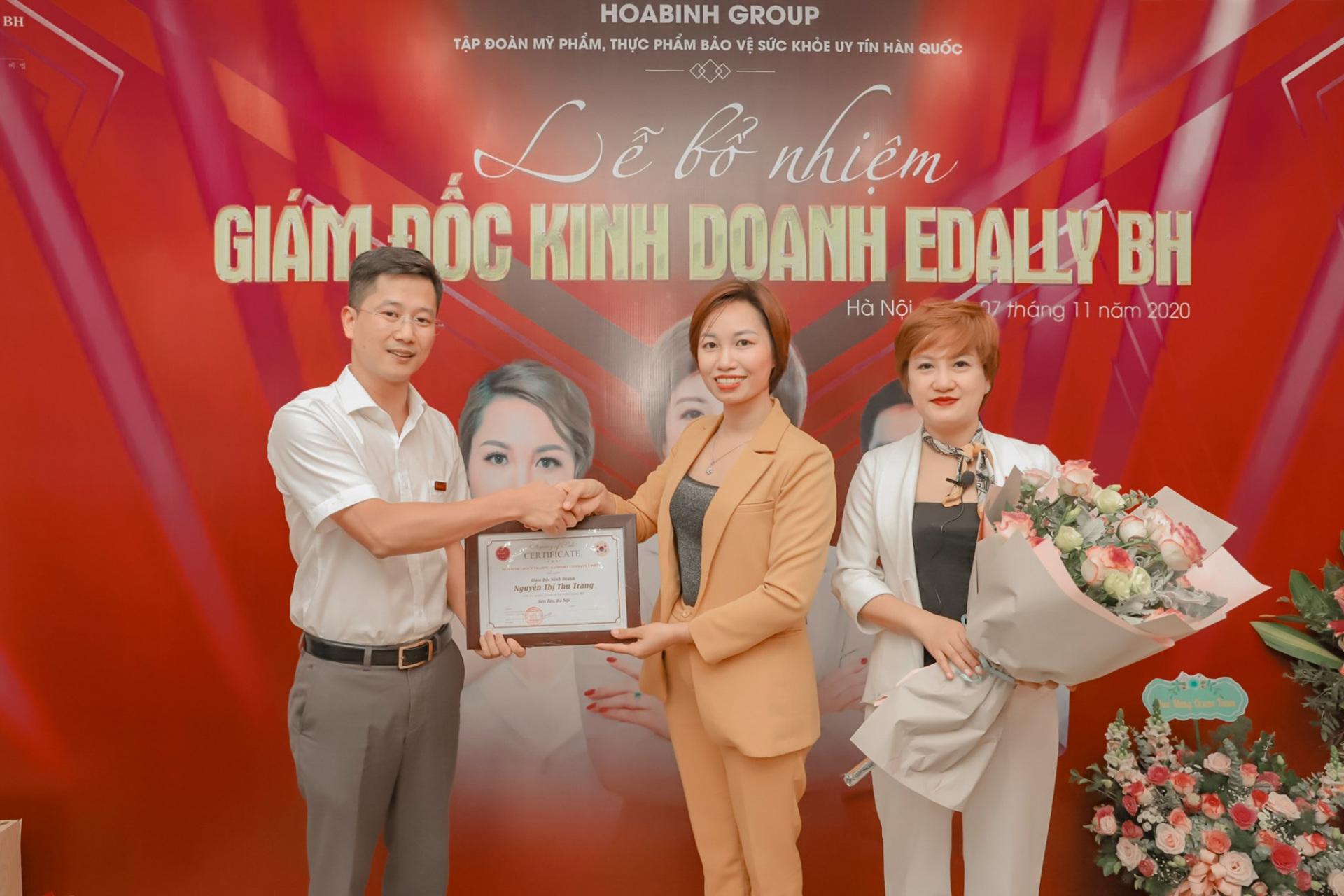 Lễ bổ nhiệm Giám đốc kinh doanh Edally BH dành cho chị Nguyễn Thu Trang